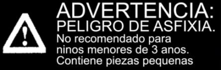 Etiqueta de advertencia con recomendación de edad (en español)