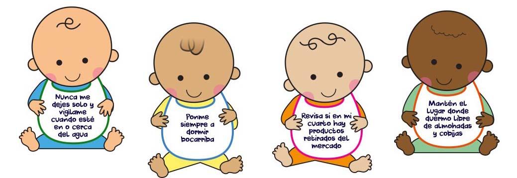 Bebés con consejos de seguridad