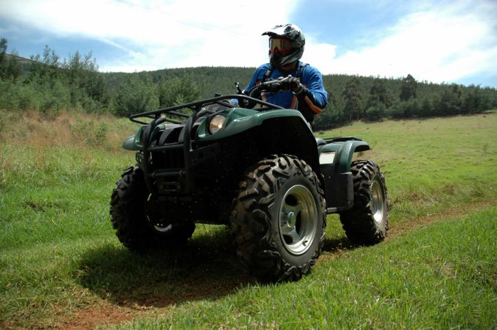 older adult on an ATV