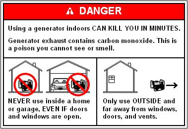 Generator Warning Label
