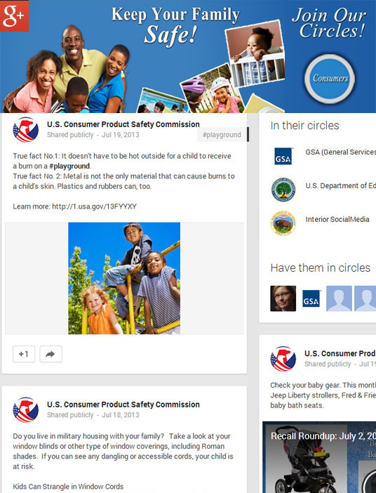 CPSC Google Plus header and a sample post