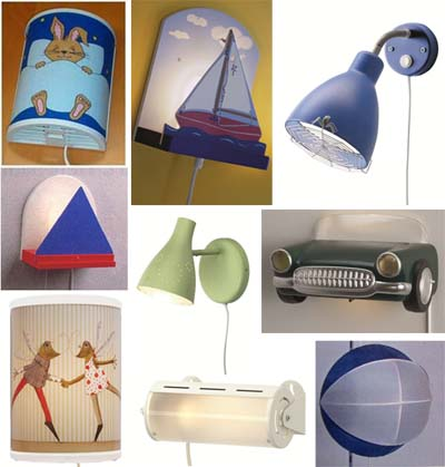 different models of recalled IKEA children's lamps