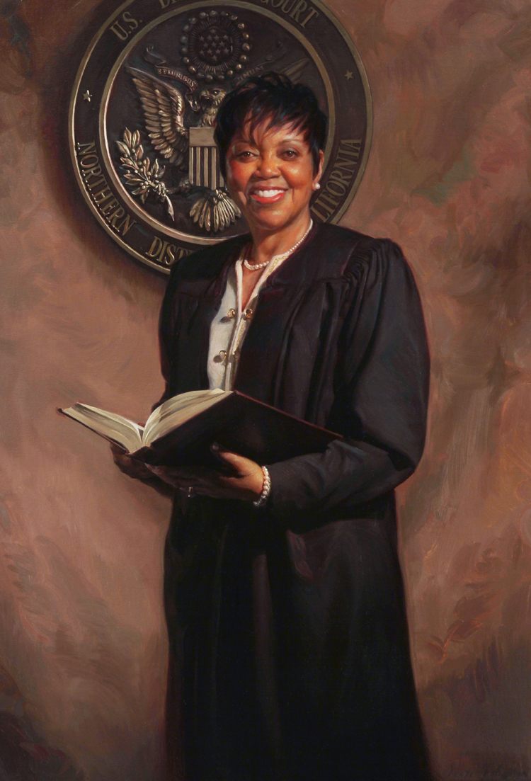 Judge_Saundra_Brown_Armstrong_official_portrait_by_Scott_Johnston,_oil_on_linen_38x26_inches,_collection_of_the_United_States_District_Court_of_Northern_California,_Oakland