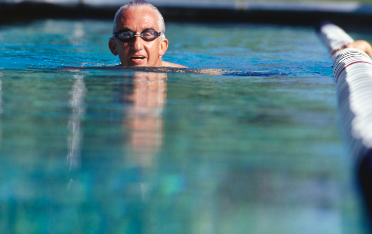 older adult swimming