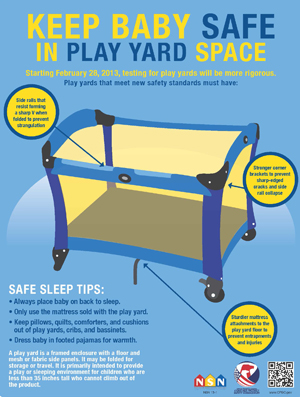 Free Poster: Keep Baby Safe in Play Yard Space