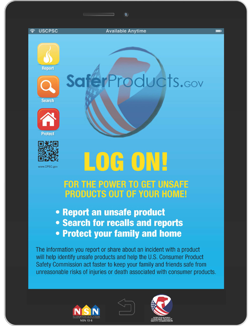 Free SaferProducts.gov Poster