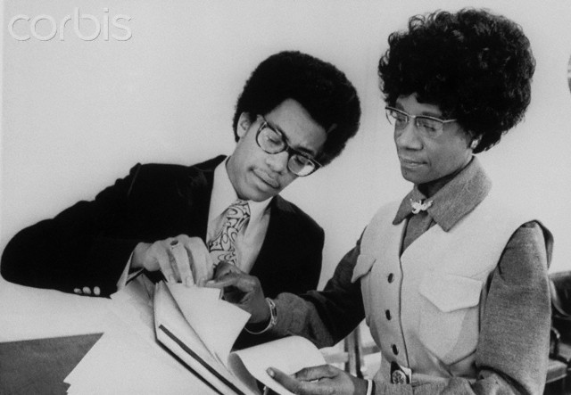 Thaddeus Garrett Showing Shirley Chisholm a Report