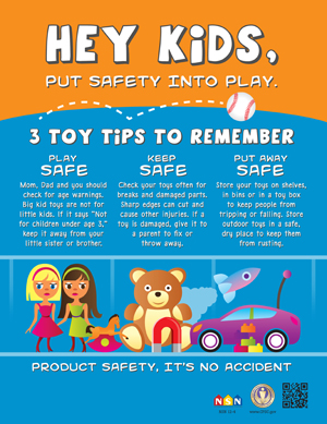 Put Safety Into Play Poster: 3 Toy Tips to Remember