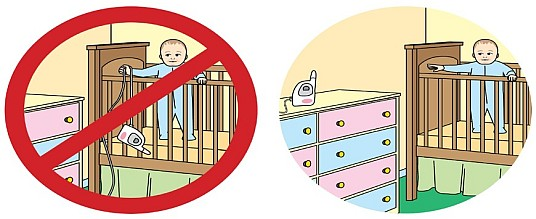 Onsafety Keep Baby Monitor Cords Out Of Reach