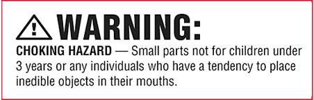 Choking hazard example