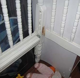 Loose wood-to-wood joints make cribs unsafe.