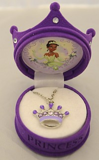 """Princess and the Frog"" crown necklace"