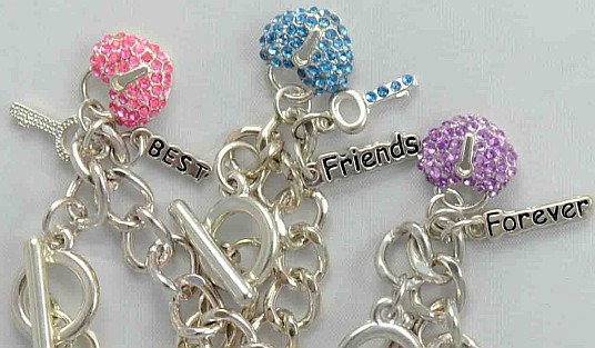 "Claire's ""Best Friends"" charm bracelets"