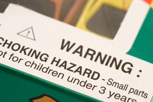 Warning Label: Choking Hazard - Small Parts not for children under 3 years old